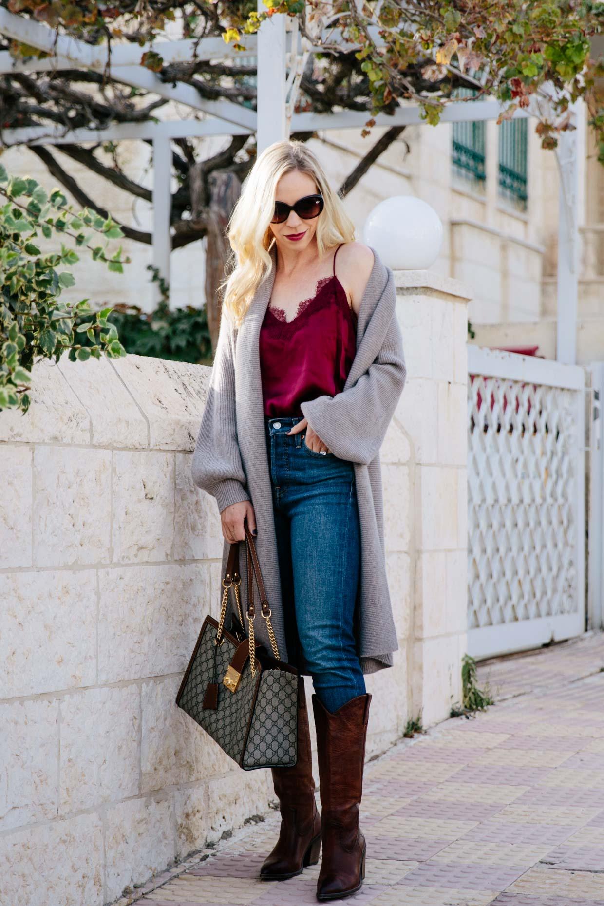 ae06f0fa1b3 Soft Textures: Cashmere Cardigan & Silk Camisole - Meagan's Moda