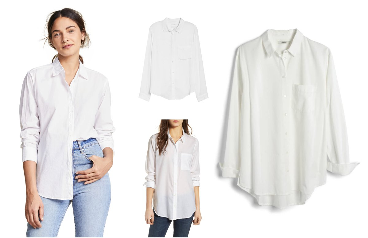 015501ece5 Four Ways to Wear a White Button Down This Spring