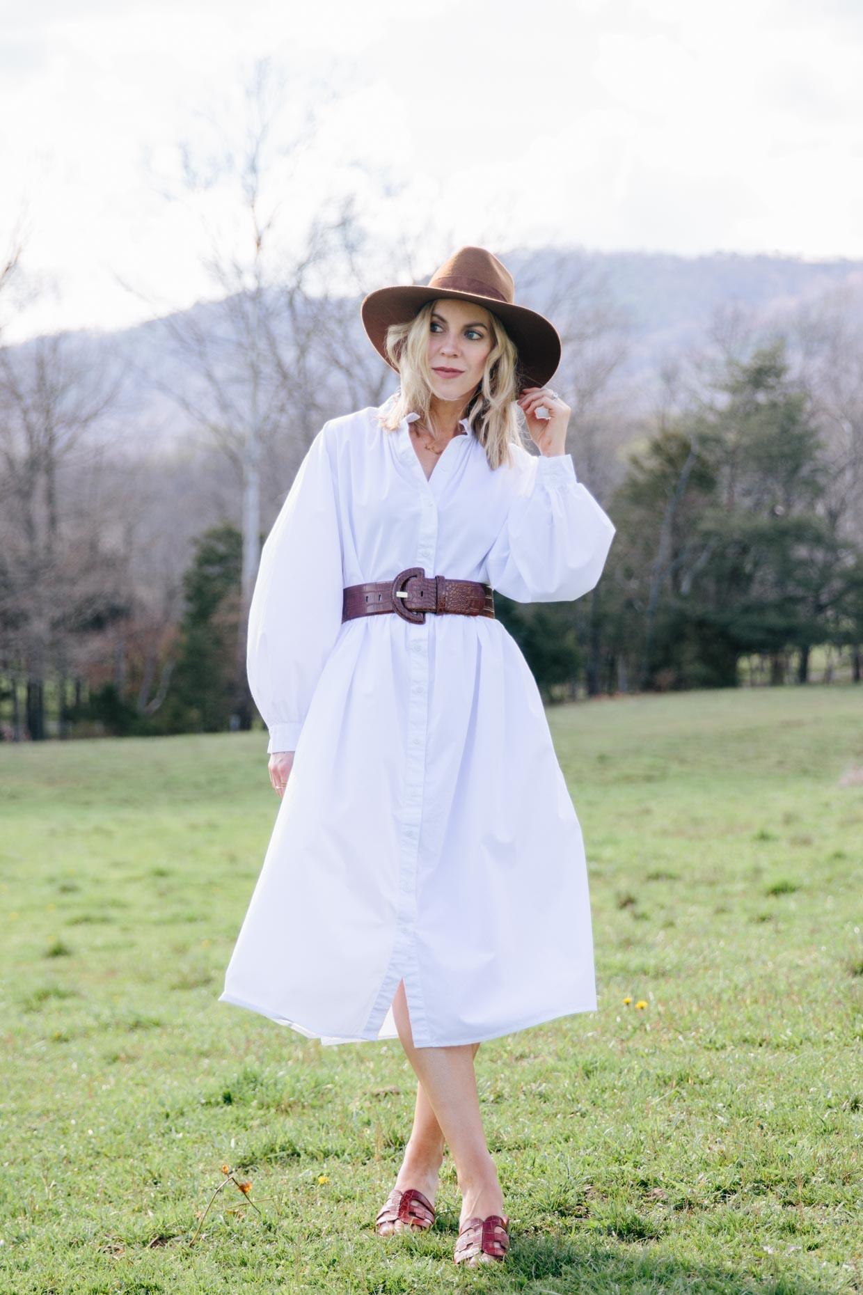 Meagan Brandon fashion blogger of Meagan's Moda wears H&M white ...